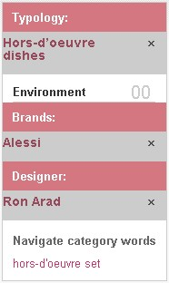 alessi_typology_filter